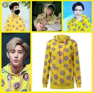 Tops - Infamous K-pop Yellow Donut Hoodie Sz S